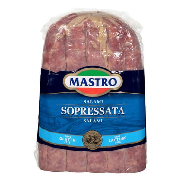 Mastro Sopressata Salami 200g You favourite cold cuts are now available sliced for online order - Local Delivery only Toronto / Scarborough / Etobicoke / North York