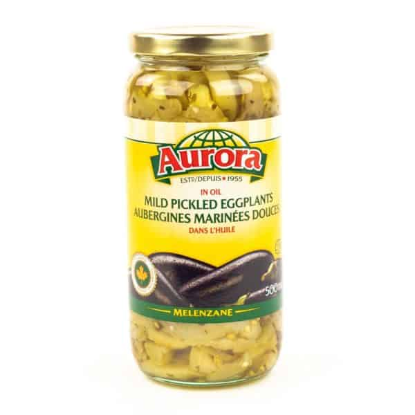 Aurora Mild Pickled Eggplantn 500ml Great Appetizer Glass Jar Available shipping to Canada and US